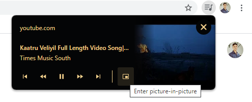 Enable Picture-in-Picture mode on Google Chrome for YouTube or any site videos