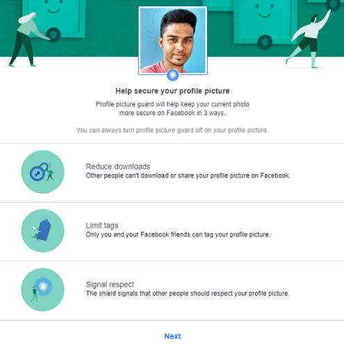 Facebook's profile picture guard features