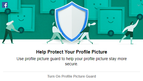 Facebook's profile picture guard notification