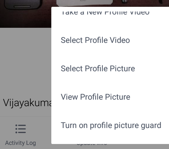 Turn on Facebook's profile picture guard on Android.