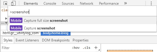 How to take full page screenshot in Chrome without