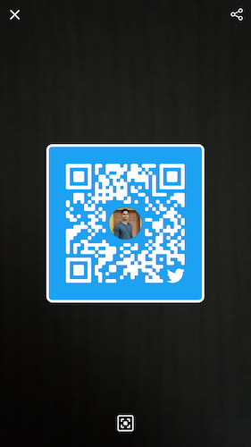 How to add people on Twitter through QR code