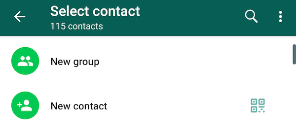 How to add people on WhatsApp through QR code on Android