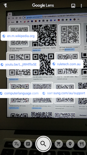 How to scan QR codes using camera on Google Lens