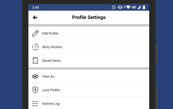 Lock your Facebook profile