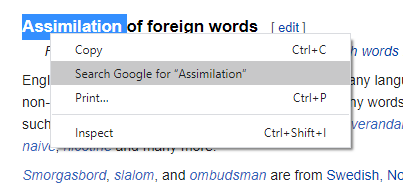 Quickly look up words or phrases on the computer using Google Chrome