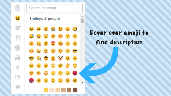 Twitter emoji search with meanings