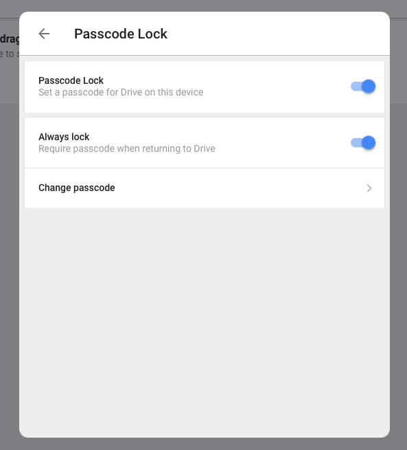 iPad Google Drive Passcode
